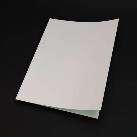 blank page: Blank page template for design layout. 3d vector illustration. A4 business blank.