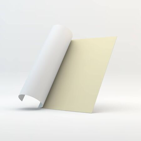 book cover: Blank page template for design layout. 3d