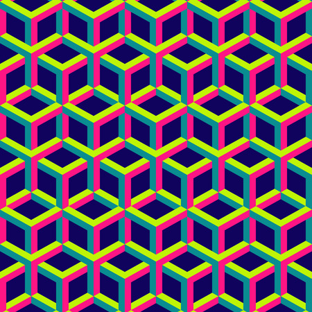 interior cell: 3d abstract geometric seamless background. Vector illustration. Can be used for wallpaper, pattern fills, web page. Illustration