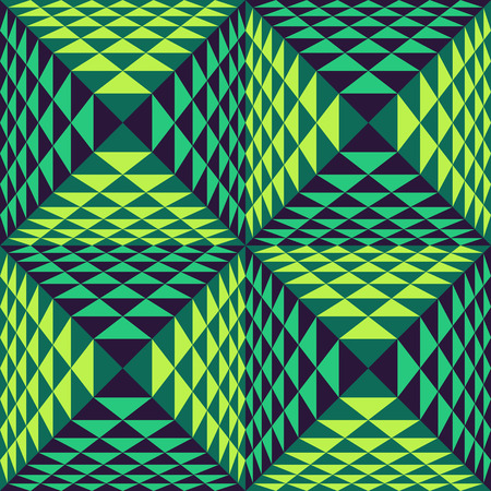 optical image: Abstract geometrical  3d background.  Seamless pattern.  Can be used for marketing, print, presentation.