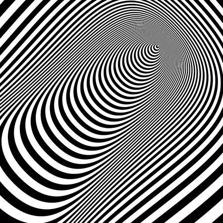 perceptions: Black and white abstract striped background. Optical Art. 3d vector illustration. Can be used for wallpaper, web page background, web banners.