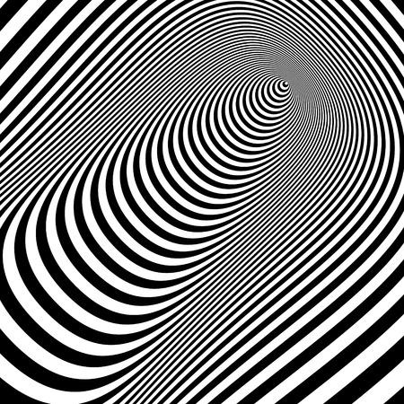 percepción: Rayas de fondo abstracto blanco y negro. Optical Art. Ilustración vectorial 3d. Puede ser utilizado para el papel pintado, fondo de páginas web, banners web. Vectores