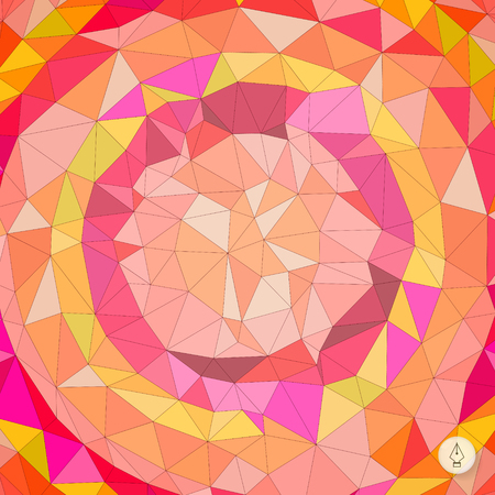 Abstract geometric background. Mosaic.  Vector
