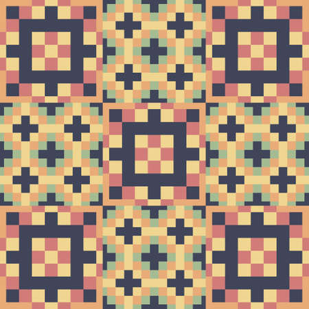 Seamless pattern. Mosaic background. Template for design and decoration backgrounds, package, covers and textile.  Vector