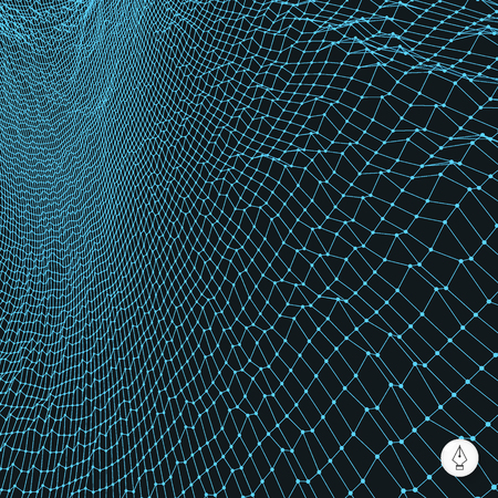 Network abstract background. 3d technology vector illustration. Vector