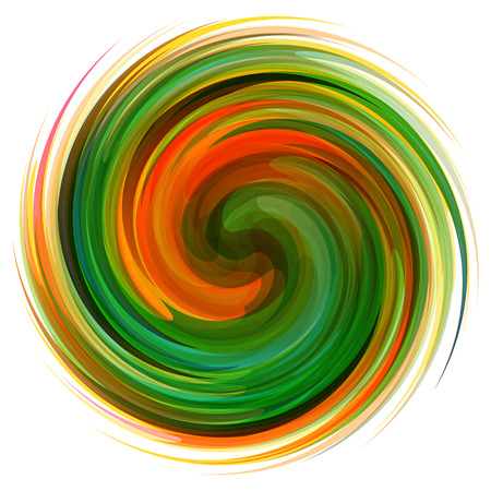 Colorful abstract icon. Dynamic flow illustration. Swirl background. Can be used for presentations, web design.