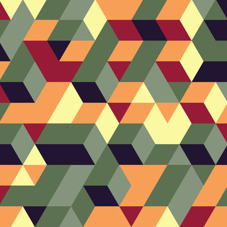 Abstract geometrical 3d background. Can be used for wallpaper, web page background, web banners. Stock Illustratie