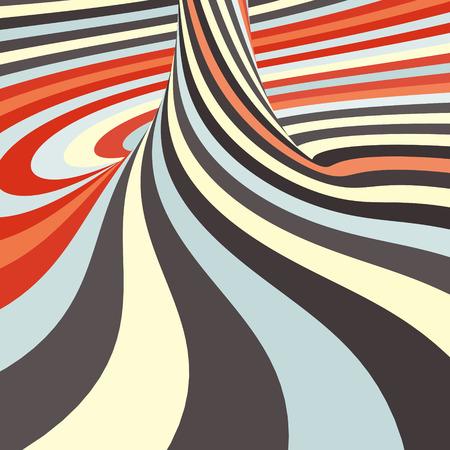 arte optico: 3d resumen de antecedentes espiral. Arte óptico. Ilustración del vector. Puede ser utilizado para el papel pintado, fondo de páginas web, de libro.