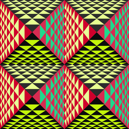 tridimensional: Abstract geometrical background with pyramids. Seamless pattern.  Vector Illustration. Illustration