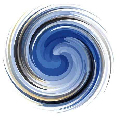 カラフルな抽象的なアイコン。動的フロー図。背景を旋回します。 Web デザインに使用できます。