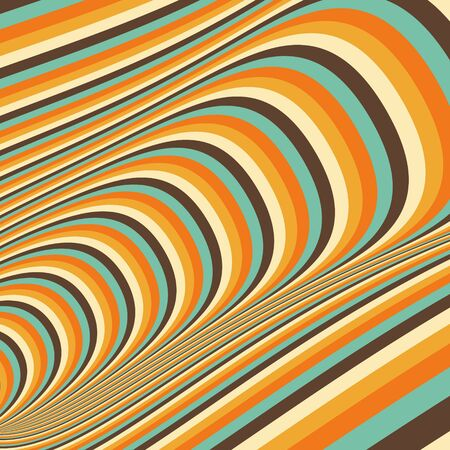 sinuous: Abstract 3d geometrical background. Pattern with optical illusion. Vector illustration.