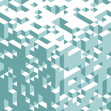 Abstract 3d geometrical background. Mosaic. Vector illustration. Can be used for wallpaper, web page background, book cover. Ilustração
