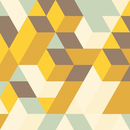 Astratto geometrico 3d. Mosaic. Illustrazione vettoriale. Può essere utilizzato per carta da parati, sfondo della pagina web, banner web.