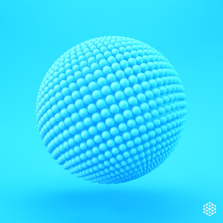 biology cell: Sphere. 3d vector template. Abstract illustration. Can be used as design element. Illustration