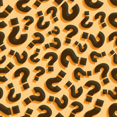 mark: Questions. Seamless pattern. Vector illustration. Can be used for wallpaper, web page background, web banners. Illustration