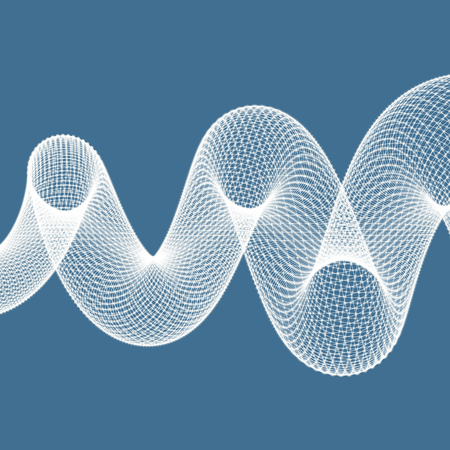 glowing skin: Spiral. 3d vector illustration. Can be used for marketing, website, print and presentation.