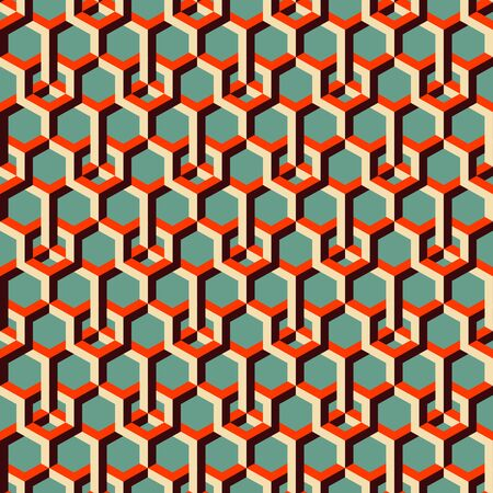 3d background: 3d background with hexagons. Illustration
