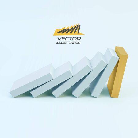 concerted: Business 3D concept illustration.  Illustration