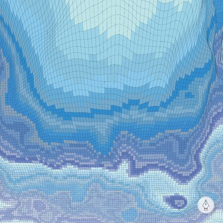 ice surface: Abstract landscape background. Mosaic vector illustration. Can be used for banner, flyer, book cover, poster, web banners.