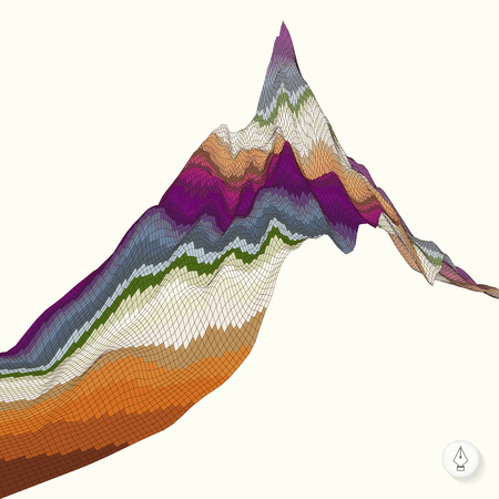 topographic: Abstract background with mountain. Mosaic. 3d vector illustration. Can be used for wallpaper, web page background, web banners.
