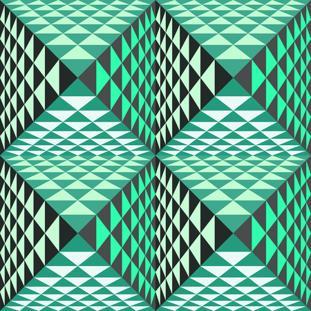 optical image: Abstract geometrical background with pyramids. Seamless pattern.  Vector Illustration. Illustration