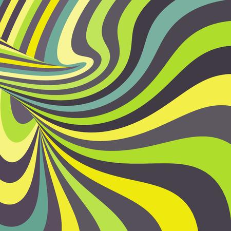 arte optico: 3d abstracto espiral Vectores