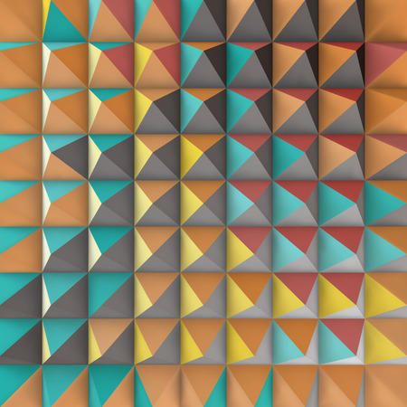 tetrahedron: Abstract 3d geometric pattern. Polygonal background