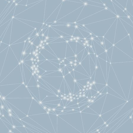 Network background. 3d technology illustration Vector