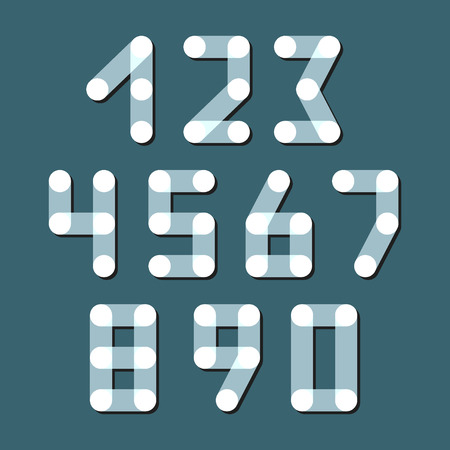numerical code: Numbers set, modern style