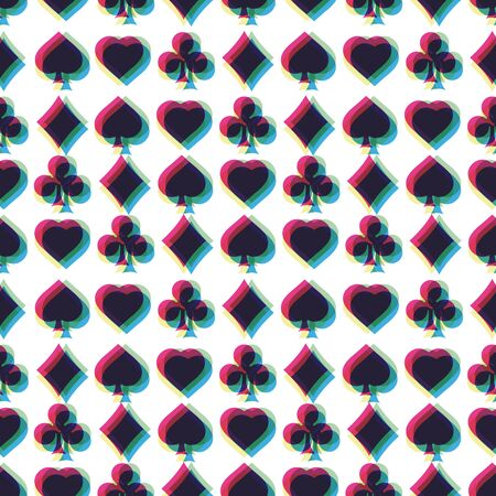 ternos: Seamless pattern with card suits Ilustra��o
