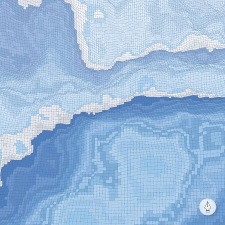 topographic: Abstract landscape background. Mosaic illustration Illustration