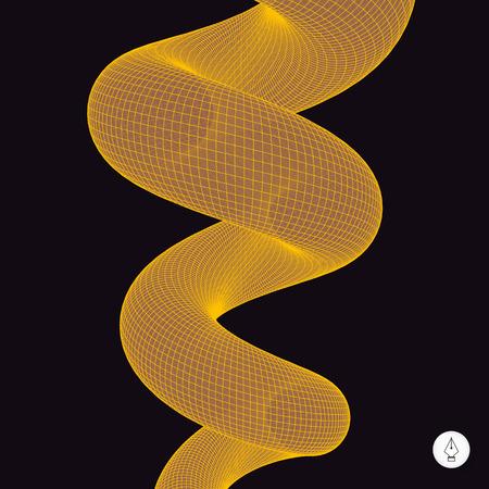 springy: Spiral 3d illustration