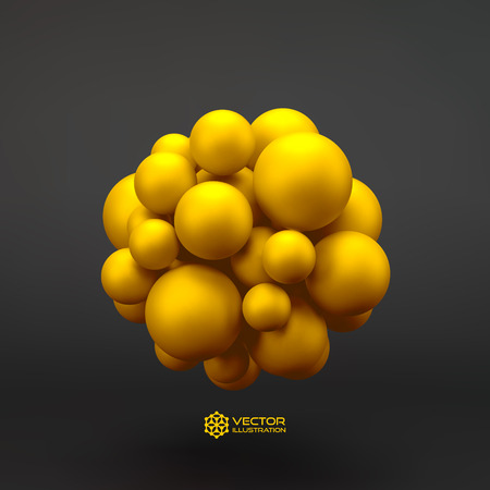 chemistry: 3D concept illustration. Vector template. Can be used for design.