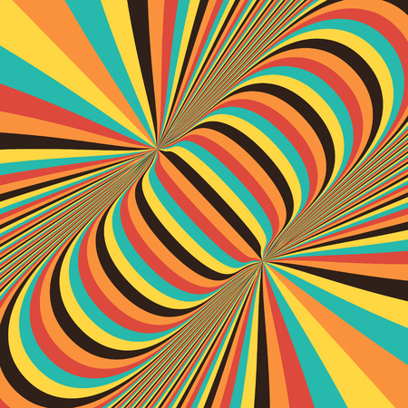 dynamical: Abstract 3d geometrical background. Pattern with optical illusion. Vector illustration.