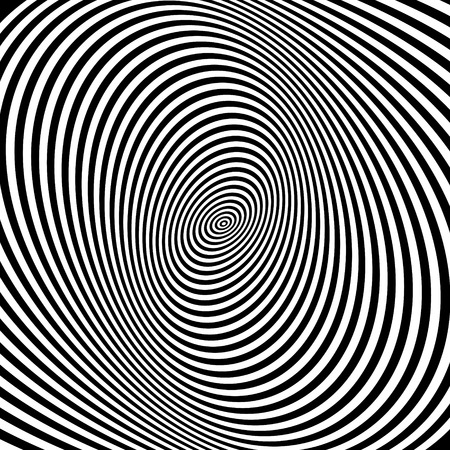hypnosis: Pattern with optical illusion. Black and white background. Vector illustration. Can be used for wallpaper, web page background, web banners.