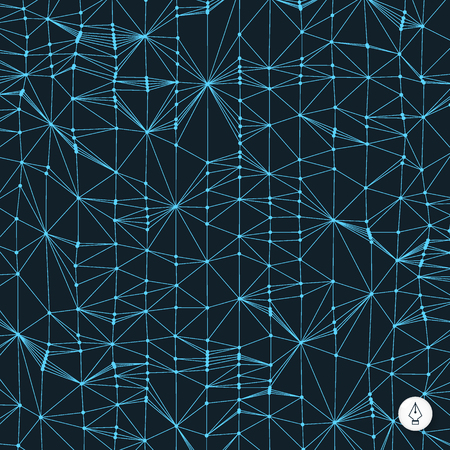 Network abstract background. 3d technology vector illustration. Can be used for banner, flyer, book cover, poster, web banners. Vector