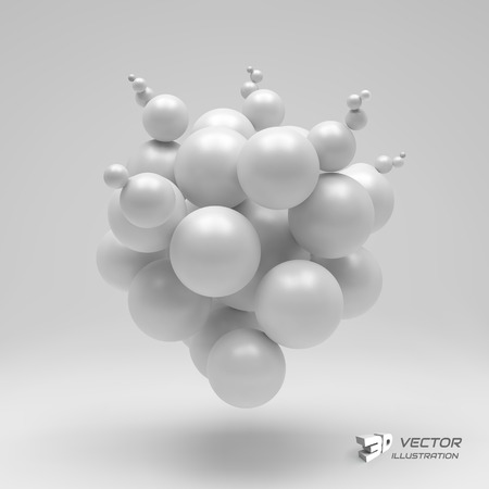 3d abstract spheres. Vector illustration. Can be used for presentations, web design. Vector