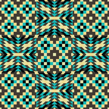 microprint: Seamless pattern. Mosaic vector illustration. Template for design, covers and textile. Illustration