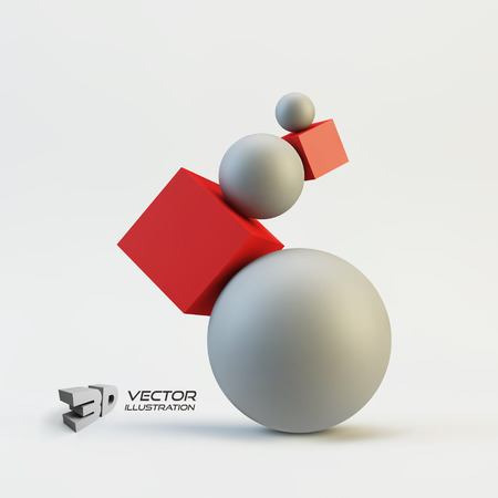 vertex: Composition of 3d geometric shapes.