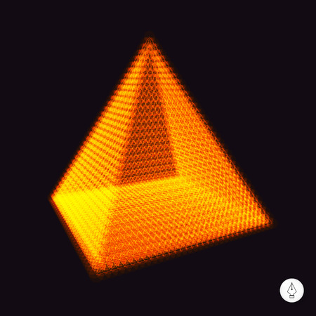 vertex: Pyramid. 3d vector illustration. Can be used as design element. Illustration