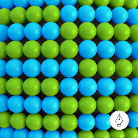 spheric: Abstract technology background with balls. Spheric pattern. 3d vector illustration.