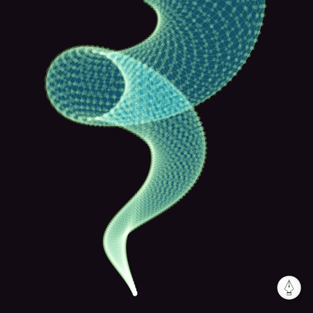 springy: Spiral. 3d vector illustration. Can be used as design element. Illustration