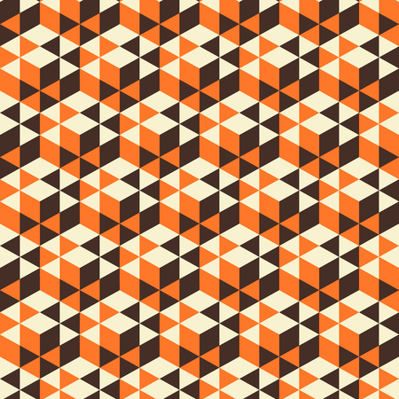 Abstract geometrical 3d background. Seamless pattern.  Mosaic. Vector illustration. Can be used for wallpaper, web page background. Vector