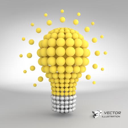Lumière Idea concept de l'ampoule. Illustration