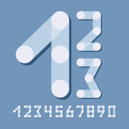 Numbers set modern style. Icons. Vector illustration. Can be used for design.
