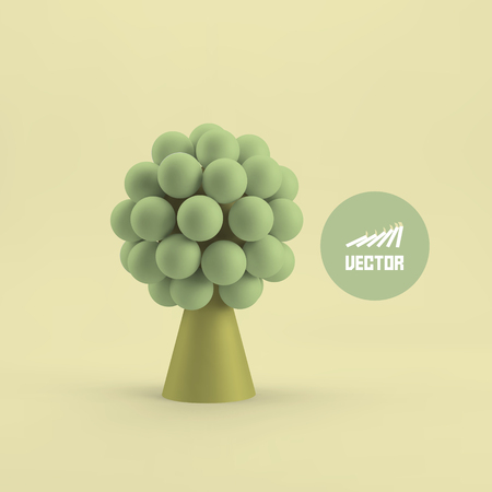investment concept: Abstract tree. Concept for business, social media, technology, network and web design. 3d vector illustration.