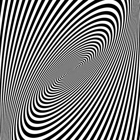 swirl background: Pattern with optical illusion. Black and white background. Vector illustration.