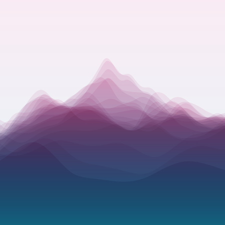 mountain landscape: Mountain Landscape. Vector Silhouettes Of Mountains Backgrounds. Can Be Used For Banner, Flyer, Book Cover, Poster, Web Banners.