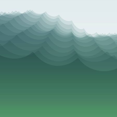 ripply: Water Wave. Vector Illustration For Your Design. Flowing Background With Halftone. Can Be Used For Banner, Flyer, Book Cover, Poster, Web Banners. Illustration