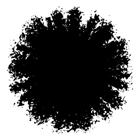 scruffy: Vector Ink Blotch. Can Be Used As Design Element.